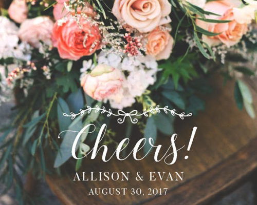 Customizable Wedding Snapchat Geofilters